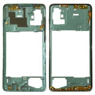 Samsung Mittelrahmen Front Housing Gehäuse für Galaxy A71 A715F Blau