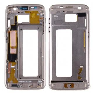 Gehäuse Rahmen Deckel kompatibel Samsung Galaxy S7 Edge G935 G935F Kleber Gold