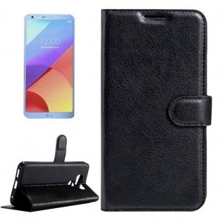 Tasche Wallet Premium Schwarz für LG G6 H870 Schutz Hülle Case Cover Etui Neu