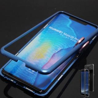 Für Huawei Mate 20 Pro Magnet / Metall Glas Blau / Transparent Tasche Hülle Case