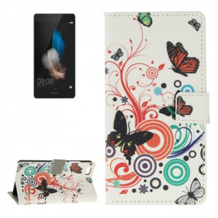 Schutzhülle Muster 2 für Huawei Ascend P8 Lite Bookcover Tasche Hülle Wallet