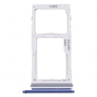 Dual Sim Karten Halter für Samsung Galaxy S10 Lite Blau Micro SD Tray Ersatzteil