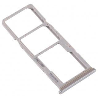 Dual Sim Karten Halter für Samsung Galaxy A70 Silber Card Tray Micro SD Ersatz - Vorschau 3