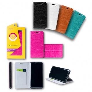 Für Huawei P20 Lite Flip / Smart Cover Schwarz Case Schutz Etui Tasche Hülle Neu - Vorschau 2