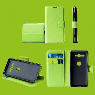 Für Samsung Galaxy A50 6.4 Zoll Tasche Wallet Premium Grün Hülle Etuis Cover Neu