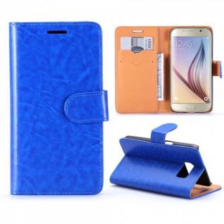 Schutzhülle Blau für Samsung Galaxy S7 G930 G930F Bookcover Tasche Hülle Case