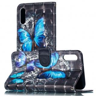 Für Samsung Galaxy A40 Kunstleder Tasche Wallet Motiv 32 Schutz Hülle Etuis Neu