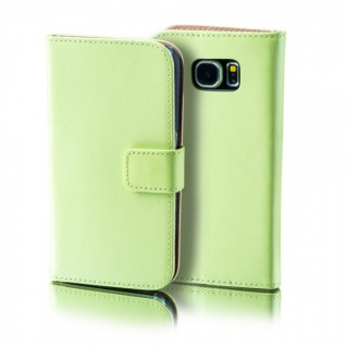 Schutzhülle Grün für Wiko Lenny 2 Bookcover Tasche Hülle Wallet Case Flip Schutz