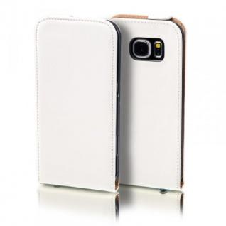Flip Tasche Deluxe Weiß für Samsung Galaxy S5 Neo SM G903F Hülle Case Etui Neu