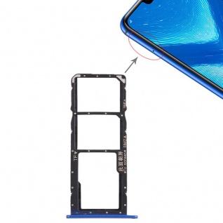 Ersatz Sim Karten Halter Adapter Sim Tray für Huawei Honor 8X Reparatur Blau Neu