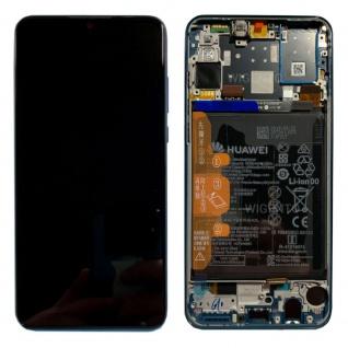 Huawei Display LCD Rahmen für P30 Lite Service 02352RQA Peacock Blue / Blau Neu