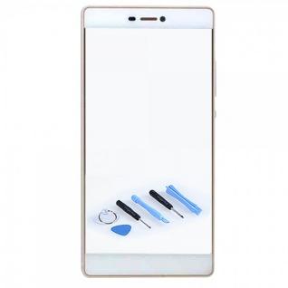 Displayglas Glas Schutz Weiß für Huawei Ascend P8 Reparatur Ersatzteil + Tool
