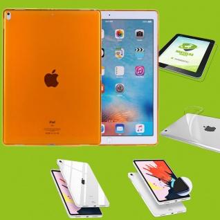 Für Apple iPad Pro 12.9 Zoll 2018 Orange Hülle Tasche Cover + H9 Hart Glas Case