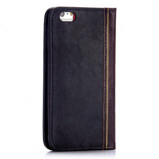 Tasche Book Retro Style für Apple iPhone 6 Plus 5.5 Hülle Case Etui Schutz Cover - Vorschau 5