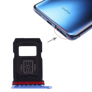 Simkarten Halter für OnePlus 7 Pro Blau Schlitten Ersatz Sim Card Tray Reparatur