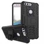 Hybrid Case 2teilig Outdoor Schwarz für Huawei Honor 8 Tasche Hülle Cover Neu