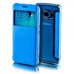 Smartcover Window Blau für Samsung Galaxy S7 Edge G935F Tasche Cover Hülle Case