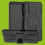 Für Samsung Galaxy A9 A920F Hybrid Case 2teilig Outdoor Schwarz Tasche Hülle Neu