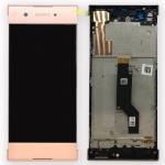 Sony Display LCD Komplett mit Rahmen für Xperia XA1 und Dual Pink Ersatzteil Neu