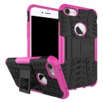 New Hybrid Case 2teilig Outdoor Pink für Apple iPhone 8 und 7 4.7 Tasche Hülle