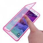 Design Cover mit Frontabdeckung Pink für Samsung Galaxy Note 4 N910 N910F Hülle