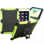 Hybrid Outdoor Schutzhülle Grün für iPad Air 2 Tasche + 0.4 H9 mm Hartglas Neu