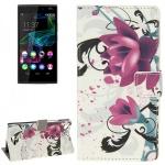 Schutzhülle Muster 3 für Wiko Ridge Fab 4G Bookcover Tasche Hülle Wallet Case