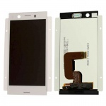 Sony Display LCD Komplett für Xperia XZ1 Dual G8342 Reparatur Silber Ersatzteil