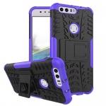 Hybrid Case 2teilig Outdoor Lila für Huawei Honor 8 Tasche Hülle Cover Neu Etui