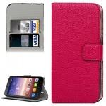 Schutzhülle Pink für Huawei Ascend Y625 Bookcover Tasche Hülle Wallet Case Etui
