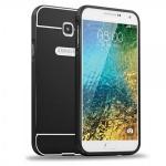 Alu Bumper 2 teilig Schwarz für Samsung Galaxy A7 2016 A710F Hülle Case Tasche