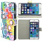Wallet Tasche Motiv Muster 1 für Apple iPhone 6 4.7 Tasche Hülle Zubehör Case