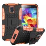 Hybrid Case 2teilig Outdoor Orange Tasche Hülle für Samsung Galaxy S5 Neo G903F