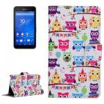 Schutzhülle Muster 41 für Sony Xperia E4G Bookcover Tasche Hülle Wallet Case