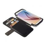Krusell BookCover Tasche Etui Malmö Stand für Samsung Galaxy S6 S6 Edge Schwarz