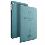 Design Tasche Backcase Smartcover Blau für Apple iPad Air 1 / Air 2 Hülle Case