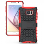 Hybrid Hülle 2 teilig Outdoor Rot Tasche für Samsung Galaxy Note 5 SM-N920 F Neu