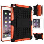 Hybrid Outdoor Schutzhülle Orange für iPad Pro 12.9 Tasche + 0.4 H9 Panzerglas