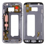 Gehäuse Rahmen Deckel kompatibel Samsung Galaxy S7 G930 G930F Kleber Black Grey