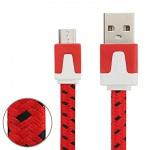 2m USB Daten und Ladekabel Rot für alle Smartphone und Tablet Micro USB Zubehör