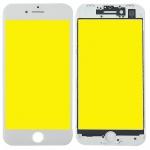 Display Glas für Apple iPhone 8 4.7 LCD + Displayglas + Rahmen + OCA Kleber Weiß