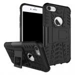 New Hybrid Case 2teilig Outdoor Schwarz für Apple iPhone 8 und 7 4.7 Tasche Neu