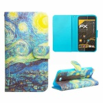Schutzhülle Muster 62 für Wiko Lenny Bookcover Tasche Hülle Wallet Case Flip Neu