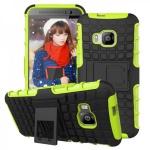 Hybrid Case 2teilig Robot Grün Cover Kappe Zubehör für HTC One 3 M9 2015 Hülle