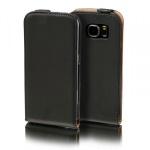 Flip Tasche Deluxe Schwarz für Samsung Galaxy S7 Edge G935F Hülle Case Etui Neu