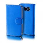 Schutzhülle Blau für Wiko Lenny 2 Bookcover Tasche Hülle Wallet Case Flip Schutz