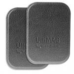 4smarts Universal Metallplättchen UltiMAG 2x Kunstleder für Halterung usw. grau