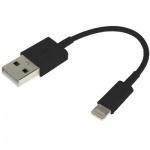 13 cm USB Daten / Lade Kabel Schwarz für Apple iPhone 6 6S Plus SE iPad Pro Air