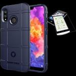 Für Apple iPhone XR 6.1 Tasche Shield TPU Silikon Hülle Blau + H9 Glas Case Neu