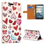 Schutzhülle Herzen für LG Optimus G4 H815 Bookcover Tasche Hülle Wallet Case Neu